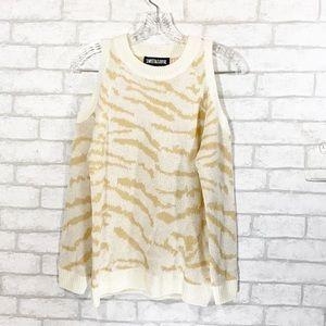 Sweet & sinful cold shoulder sweatshirt size S